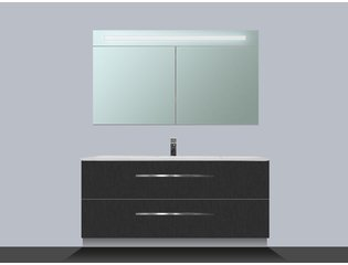 Saniclass Exclusive Line Kera 100 badmeubel met spiegelkast Black Diamond SW8349