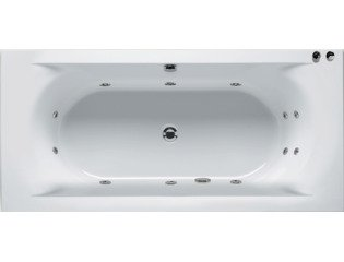Riho Easypool Lima whirlpoolbad 170x75cm pneumatisch wit glans SW10352