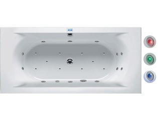 Riho Easypool Lima whirlpoolbad 190x90cm elektronisch met kleurentherapie wit glans OUTLET OUT4843