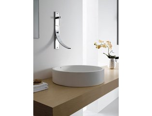 Cross Tone Solid surface opbouwwastafel B50xD10xH10cm rond wit mat CTS2107