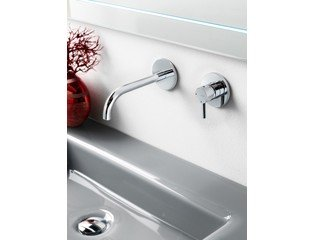 Hotbath Laddy Mitigeur lavabo encastrable 005J nickel brossé SW12355