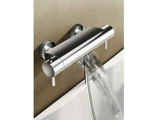 Hotbath Cobber/Buddy Mitigeur de bain thermostatique avec jet cascade chrome SW11291