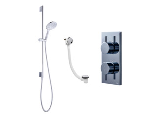 Crosswater Digital Kai bad doucheset glijstang en badvulcombinatie chroom SW209206