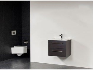 Saniclass Bologna 60 badmeubel met twee lades black wood SW8310