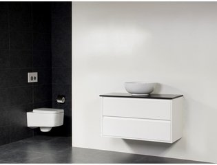 Saniclass New Future Corestone13 vasque à poser blanche meuble 100cm Blanc brillant sans miroir SW17794