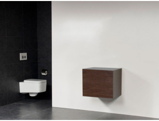 Saniclass Exclusive Line Small onderkast 59x39x50cm 2 lades met softclose MFC Grey Oak OUTLET