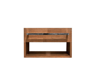 Saniclass Natural Wood Meuble sous lave mains grey wash