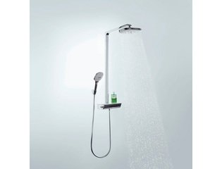 Hansgrohe Raindance select showerpipe e 300 2jet wit/chroom GA20045