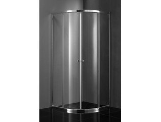 Saniclass Kay Cabine de douche 80x80x185cm quart de rond profilé chrome et verre clair DESTOCKAGE OUT5417