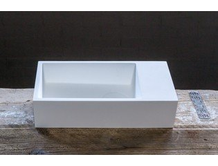 Cross Tone Solid Surface fontein 36x18x9 cm rechthoek wit SW21718