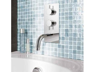 Crosswater Kai Lever Mitigeur bain/douche thermostatique encastrable 2 voies avec bec chrome SW24513