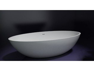 Best design New Stone vrijstaand bad 180x85x52cm solid surface met overloop hoogglans wit SW28079