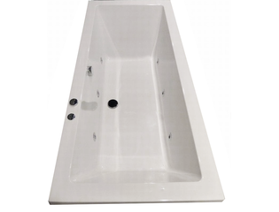 Royal plaza Rade2 systeembad 180x80cm injectie water pw6 wit