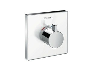 Hansgrohe ShowerSelect Glass afbouwdeel voor inbouw thermostaat Highflow wit/chroom OUTLET OUT4672