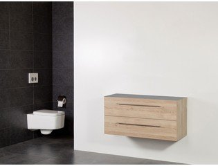 Saniclass Exclusive Line Small onderkast 99x39x50cm 2 lades met softclose MFC legno calore SW30754