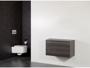 Saniclass Exclusive Line Small onderkast 80.2x39x50cm 2 lades met softclose MFC legno antracite SW30731