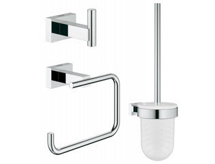 Grohe Essentials Cube accessoireset 3 in 1 chroom