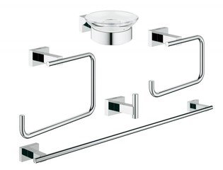 Grohe Essentials Cube accessoireset 5 in 1 chroom 0438180