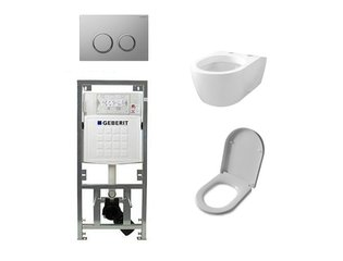 Throne Bathrooms Salina inbouwset met wandcloset en softclose zitting en afdekplaat sigma20 chroom SW32455