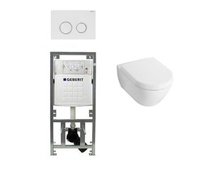 Villeroy en boch Subway 2.0 Inbouwset met wandclosetpot wit soft close zitting afdekplaat sigma20 wit SW32460