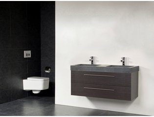 Saniclass Exclusive line Grey Stone 120 badmeubel black diamond 2 laden 2 kraangaten zonder spiegel SW21693