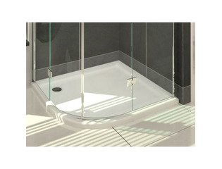 Saniclass Selva Receveur de douche 80x80x4cm quart de rond acrylique blanc DESTOCKAGE OUT5416