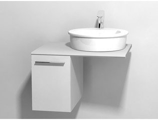 Duravit X large onderbouwkast v console met 1 lade 30x545x44cm glanswit 0294287