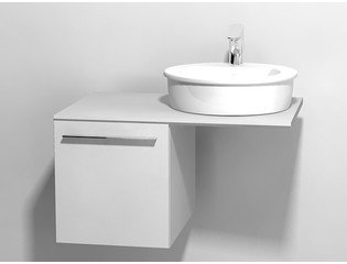 Duravit X large onderbouwkast v console met 1 lade 40x545x44cm glanswit 0294296