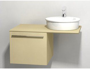 Duravit X large onderbouwkast v console met 1 lade 50x545x44cm cappuccino glans 0294312