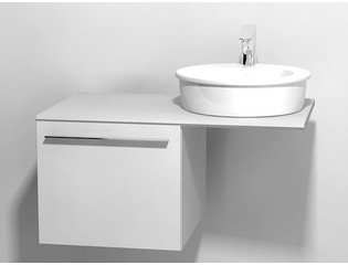 Duravit X large onderbouwkast v console met 1 lade 50x545x44cm glanswit 0294304