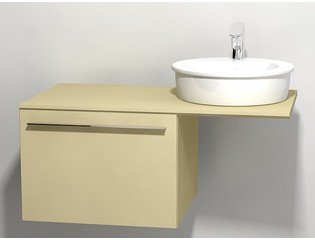 Duravit X large onderbouwkast v console met 1 lade 60x545x44cm cappuccino glans 0294321