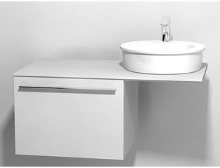 Duravit X large onderbouwkast v console met 1 lade 60x545x44cm glanswit 0294313