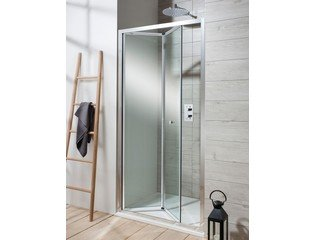 Simpsons Edge Porte battante coulissante 90x195cm profilé chrome et verre transparent SW21385
