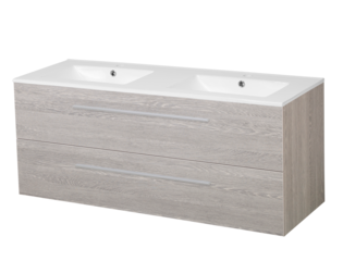 Saniclass Exclusive line Kera 120 badmeubel met spiegelkast Black wood 2 laden SW10273