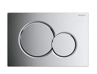 Geberit Sigma 01 Plaque de commande finition chrome brillant 0700519