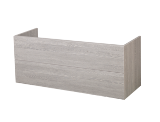 Saniclass Exclusive Line onderkast 119x45.5x50cm hangend met 2 softclose lades 1 sifonuitsparing MFC Beach SW29348