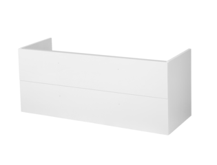 Saniclass Exclusive Line onderkast 119x45.5x50cm hangend met 2 softclose lades 1 sifonuitsparing MDF hoogglans wit SW29345