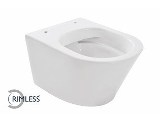 Wiesbaden Vesta Compact WC suspendu Sans Bride 47cm blanc DESTOCKAGE OUT5610