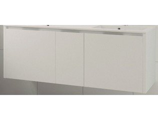 Bruynzeel Matera wastafelonderkast 150x50 4x lade met dubbele sifonuitsparing mat wit SW65583