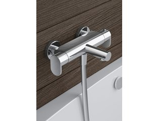 Hotbath Friendo Mitigeur bain mural thermostatique chrome Fin de Série OUT5138