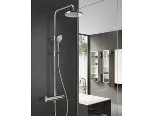 Hotbath SDS 1 set de douche de pluie thermostatique Laddy chrome 3 jets douchette et douche de tête 20cm SW18667