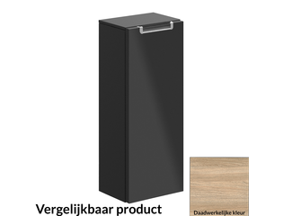 Villeroy & Boch Subway 2.0 zijkast met 1 deur en 1 legplank 24x60x18.7cm links ELM Impresso OUTLET OUT3966
