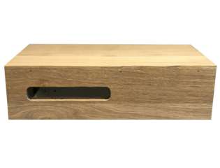 Saniclass Natural Wood fonteinonderkast 40x20x10cm met uitsparing links doorlopend lamel smoked oak