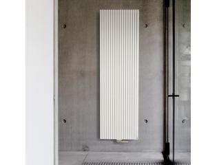 Vasco Carré Plus CVPN PLUS designradiator verticaal enkel 1400x295mm 871W aansluiting 1188 wit SW87045