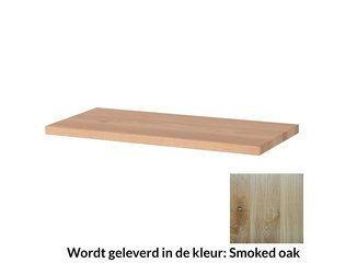 Saniclass Topblad 120x46x3.8 vingerlas smoked oak OUTLET OUT4144