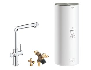 Grohe Red New keukenkraan duo met L-uitloop en L-size boiler chroom SW108064