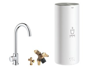 Grohe Red New keukenkraan mono m. C-uitloop m. L-size boiler chroom OUTLET OUT4903