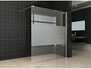 Praya Wiesbaden inloopdouche 140x200cm met 8mm Nano glas met satin band chroom OUTLET