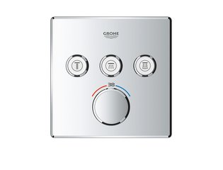 GROHE GROHTHERM SMARTCONTROL afdekset douchethermostaat met omstel 3x vierkant CHROOM SW105952