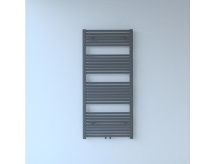 Throne Bathrooms Exclusive line 2.0 radiator 60x140cm 735watt recht middenaansluiting grijs metallic SW204506